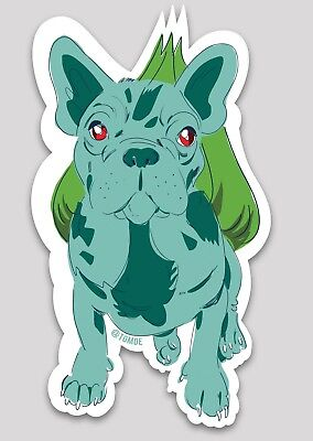 Original French Bulldog Sticker - Pokemon Stickers - Frenchie Bulbasaur Stickers