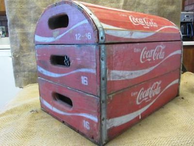 Vintage Coke Wooden Crate Chest Box > Antique Coca-Cola Bottle RARE 9806