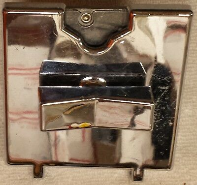 (1) Chrome Coin Mechanism, Larger than  one used on most Candy Gumball Machines