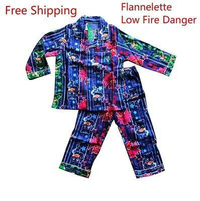 New Winter Thick Flannelette Pyjamas Pjs Sleepwear (Low Fire Danger) - Pj Masks
