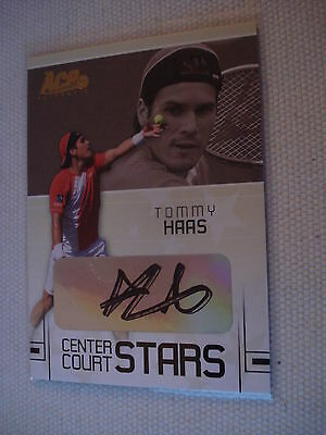 TOMMY HAAS ^^^^ 2006 Ace Grand Slam  AUTOGRAPH CC-20 ^^^^ TENNIS Trading Card