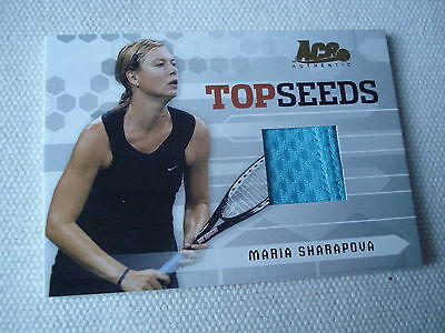 MARIA SHARAPOVA ^^^^ 2006 Ace TopSeeds Jersey Patch blue ^^ Tennis Trading Card