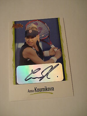 ANNA KOURNIKOVA 2007 Ace Authentic AUTOGRAPH #L9 Tennis Trading Card