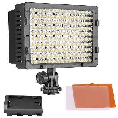 Neewer CN-160 Dimmable LED Video Light with Diffuser Battery and USB Charger Kit