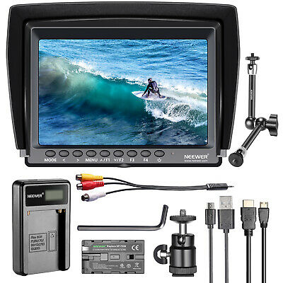 "Neewer F100 7"" 1280x800 IPS Camera Field Monitor with Battery and Magic Arm Kit"