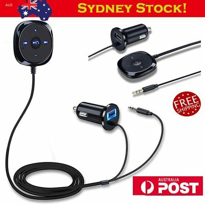 Wireless Bluetooth Handsfree Car kit USB MP3 Player Speaker Charger for iPhone