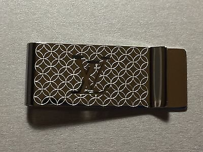 Louis Vuitton Steel Champs Elysees Bill Clip Money Clip LV Wallet M65041 AN0154