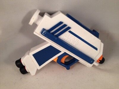 Star Wars NERF hand Gun Blaster Blue Clone Wars With Darts
