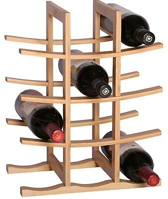 RTA La Pagode 12 Bottle Countertop Bamboo Wine Rack Natural Colour