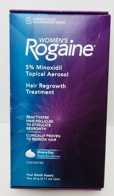 Rogaine for Women Hair Regrowth Treatment Unscented Foam 4 Month Supply NEW