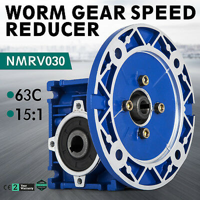 Worm right angle gearbox / speed reducer / size 40 / ratio 15:1 / NMRV030