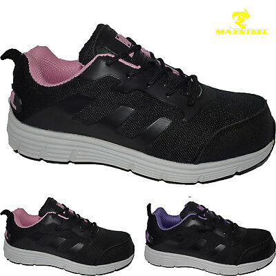 New Ladies Lightweight Steel Toe Cap Safety Work Boots Trainers Shoes Women Size