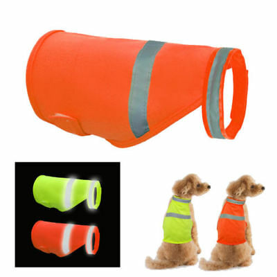 Reflective Dog Vest Night Safety Fluorescent Visibility Pet Coat Waterproof