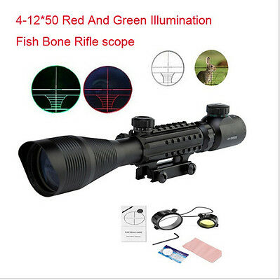 Tactical Optics 4-12X50EG 4X-12X Maginification Rifle Scope For Hunting Shooting