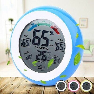 New Digital LCD Display Indoor Thermometer Hygrometer Wireless Electronic Meter
