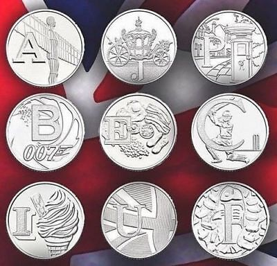 Rare 2018 Alphabet A-Z 10p Ten Pence Coins Bond, Angel  ALL IN STOCK UNC COINS