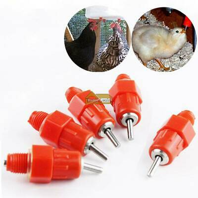 10-30Pcs Duck Hen Chicken Feeder Drinker Poultry Water Nipple Hanging Farm UK