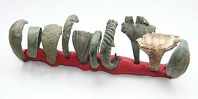 Group Of Ancient Old Bronze Finger Rings (MAR)