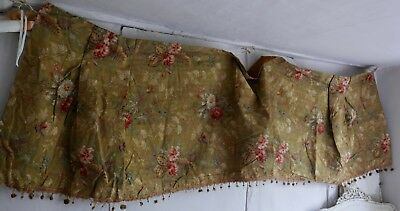 Antique French Fabric Vintage Cotton Panel Chinoiserie Hummingbirds Hibiscus 3y