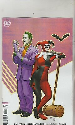 Dc Comics Harley Quinn Harley Loves Joker #1 July 2018 Variant 1St Print Nm