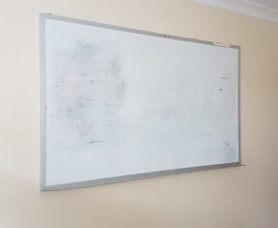 Large Magnetic Whiteboard 150cm across x90cm tall