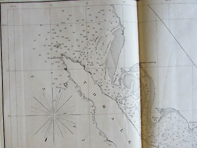 California 1861-2 Tomales Bay old nautical coast chart survey map Pacific