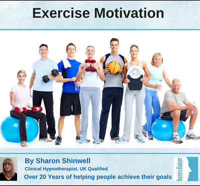 Exercise & Keep Fit Motivation CD. Make Exercise Fun & Easy Hypnosis HALF PRICE