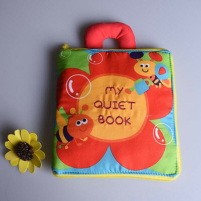 Baby Soft Stereo Flowers Cloth Book Baby Early Learn Education Development Toy >