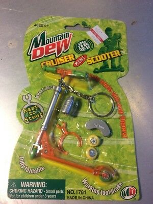 Mountain Dew Cruiser Mini Toy Scooter Orange Razor 2000 17 Years Old Skateboard