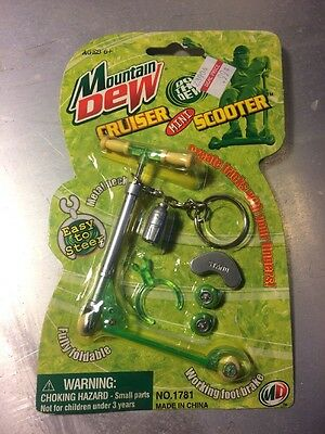 Mountain Dew Cruiser Mini Toy Scooter Green Razor 2000 17 Years Old Skateboard