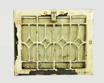 """Antique Metal Heating Grate Register Vent Wall Ornate 11.5 X 9.5"""""""