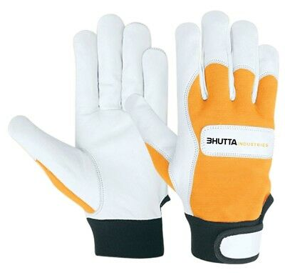 Premium Cowhide Leather Work Gloves M L XL, 1, 2, 3 or 6 Count
