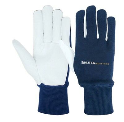 Premium goatskin Leather Work Gloves M L XL, 1, 2, 3 or 6 Count