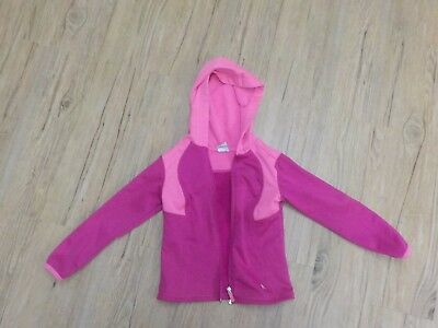 Danskin Now Girls Full Zip Hooded Jacket Pink, Size XS (4/5)
