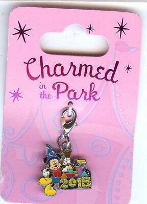 Disney Park EXCLUSIVE 2015 SORCERER MICKEY CHARMED IN THE PARK CHARM  NOC NEW