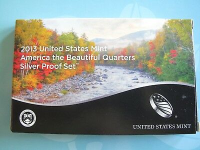 2013-S ATB QUARTER SILVER PROOF SET ORIGINAL MINT PACKAGING and CERTIFICATE