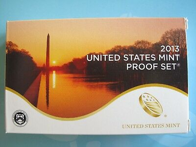 2013-S U.S. MINT PROOF SET 14 CLAD COINS ORIGINAL PACKAGING with CERTIFICATE P15