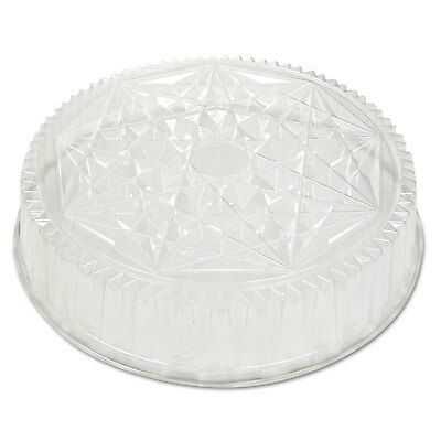 Round Caterware Dome-Style Food Container Lids, 1-Comp, Clear, 18dia, 50/carton