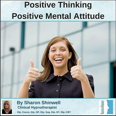 Positive Thinking - Positive Mental Attitude. Hypnosis/CBT CD. NOW @ HALF PRICE