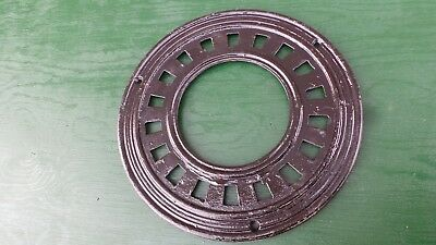 ANTIQUE Cast Iron Round WALL Floor CHIMNEY Grille Heat Grate Register STEAMPUNK