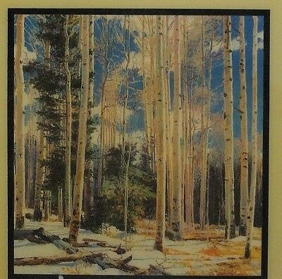 """Vintage CURT WALTERS Signed Print CRYSTALLINE TILE 7.75"""" WINTER ELOQUENCE"""