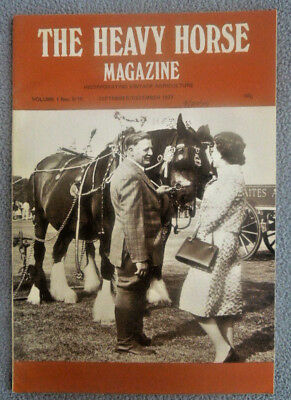 Vintage SEPT 1977 THE HEAVY HORSE Magazine ~ Vol 1 #10 ~ SUFFOLK SHIRE DRAUGHT