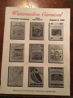 1989 Water Valley Mississippi Watermelon Carnival Souvenir Program