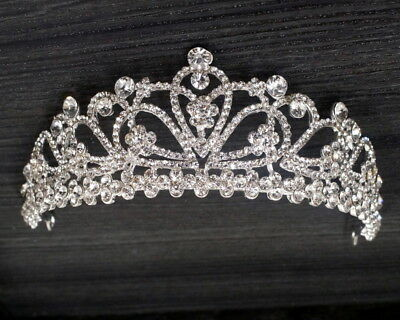 Royal Pageant Bridal Tiara Rhinestone Crystal Prom Wedding Quinceanera Crown
