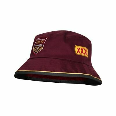 Queensland Maroons State Of Origin 2018 ISC Players Bucket Hat! Cap!