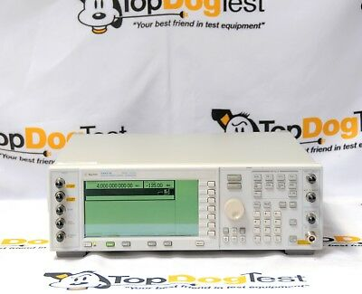 Hp Agilent Keysight E4437B 250kHz - 4.0 Ghz ESG-DP Digital Signal Generator