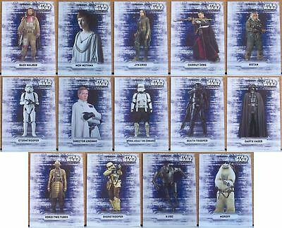 Star Wars Rogue One Character Sticker insert card part set (14 of 18). Series 1