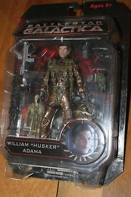 "Battlestar Galactica William ""HUSKER"" Adama  figure (NIP)"