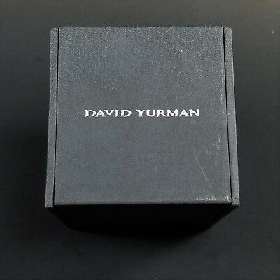 DAVID YURMAN Black Leather Jewelry Box Storage Display w Ring Slots