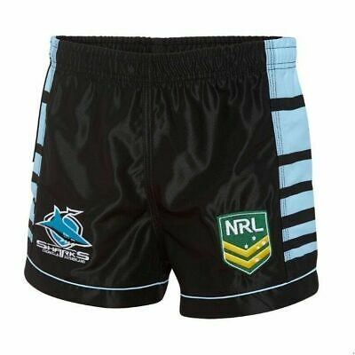 Cronulla Sharks NRL 2018 Home Supporters Shorts Adults & Kids Sizes! NEW
